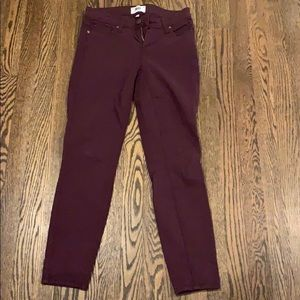 Paige plum colored ankle jeans!